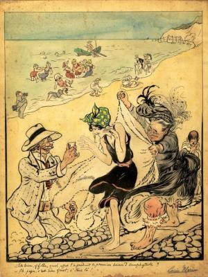 blanc-nez-la-baignade-humour-vers-1900-herve-tavernier-calais.jpg