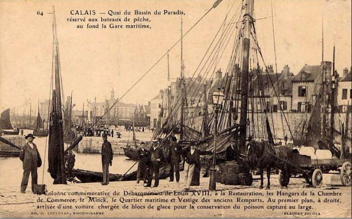 Calais bassin du paradis blocs de glace pour le poisson