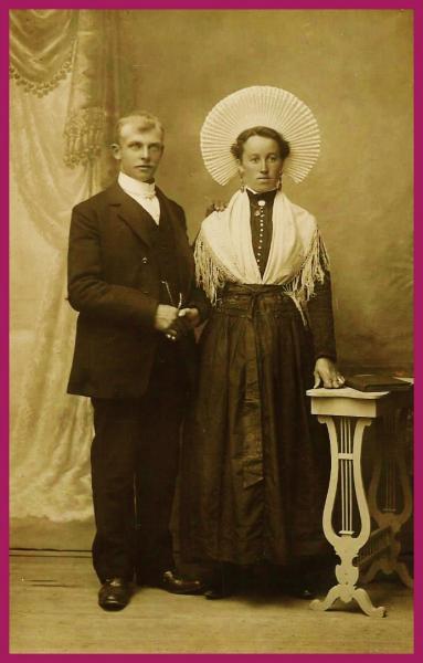 Henri calmels pecheur islandais des hemmes de marck et marie lenthieul encadre